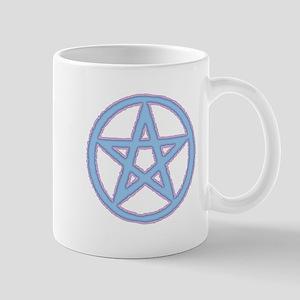Pink & Blue Puffy Pentagram Mugs