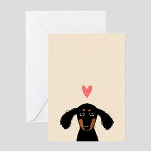 Dachshund Love Card Greeting Cards