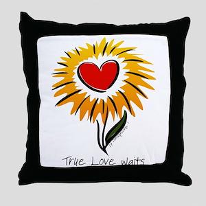 Flower True Love Waits Throw Pillow