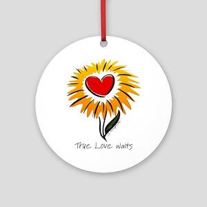 Flower True Love Waits Ornament (Round)