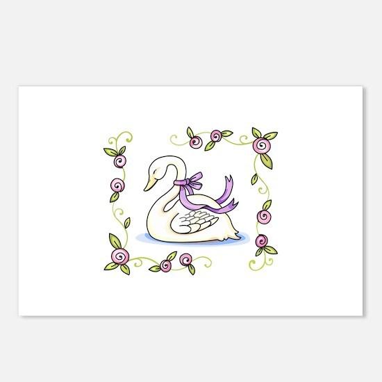 FRAMED SWAN Postcards (Package of 8)