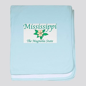 Mississippi The Magnolia State baby blanket