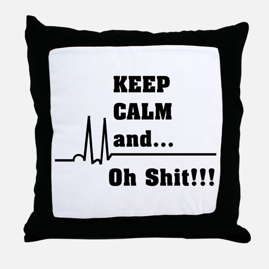 Unique Cardiac nurse Throw Pillow