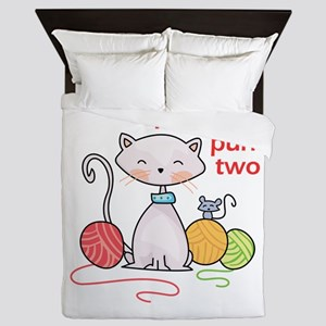 KNIT ONE PURR TWO Queen Duvet