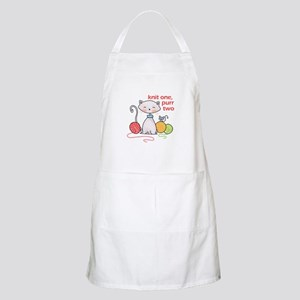 KNIT ONE PURR TWO Apron