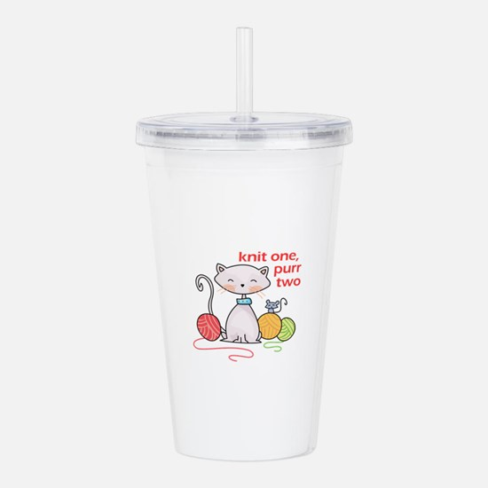 KNIT ONE PURR TWO Acrylic Double-wall Tumbler