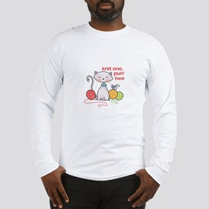 KNIT ONE PURR TWO Long Sleeve T-Shirt