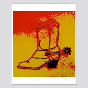 Old Cowboy Boot Posters Small Poster