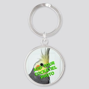 Custom Cockatiel Photo Round Keychain