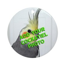 Custom Cockatiel Photo Ornament (Round)