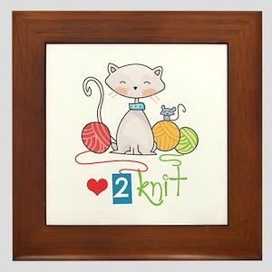 LOVE TO KNIT Framed Tile