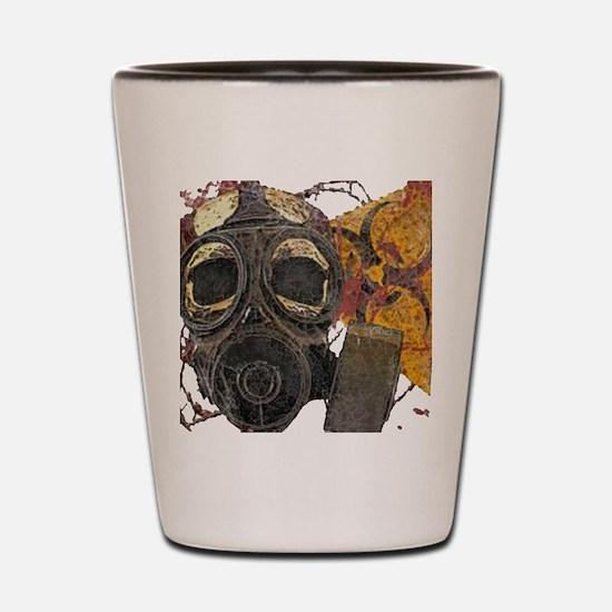 Biohazard Zombie Apocalypse Shot Glass