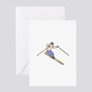 Skier Greeting Cards