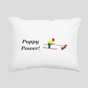 Puppy Power Rectangular Canvas Pillow