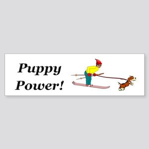 Puppy Power Sticker (Bumper)