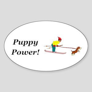 Puppy Power Sticker (Oval)