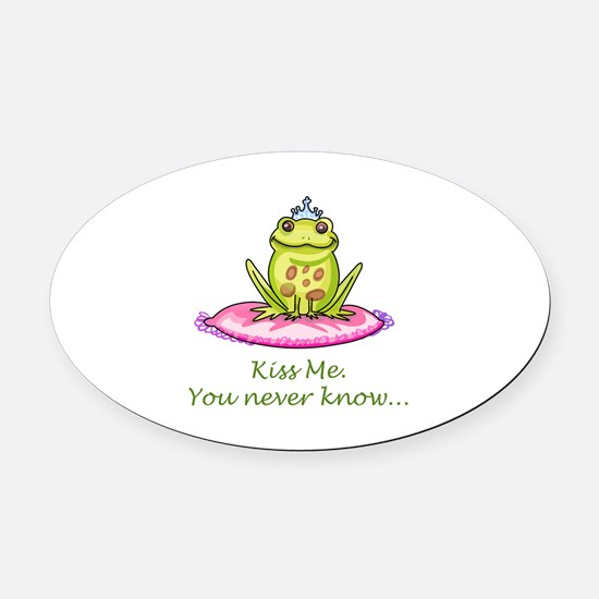 KISS ME Oval Car Magnet