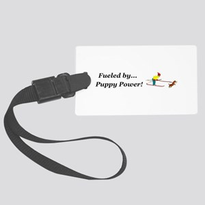 Fueled by Puppy Power Large Luggage Tag