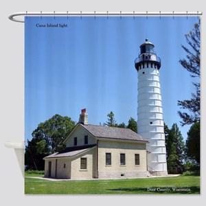 Cana Island Light Shower Curtain