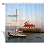 Duluth Harbor South Pier Light Shower Curtain