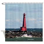 Muskegon South Breakwater Light Shower Curtain