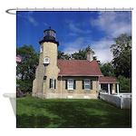 White River Light Station Shower Curtain