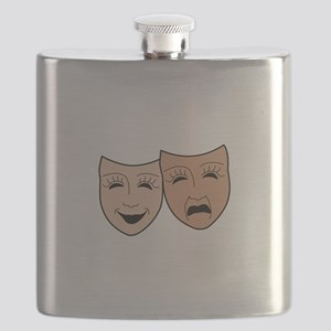 DRAMA MASKS Flask