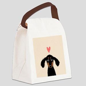 Dachshund Love Canvas Lunch Bag