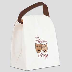THE WORLD IS A STAGE Canvas Lunch Bag