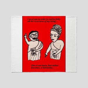 Existential Valentine Throw Blanket