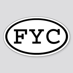 FYC Oval Oval Sticker