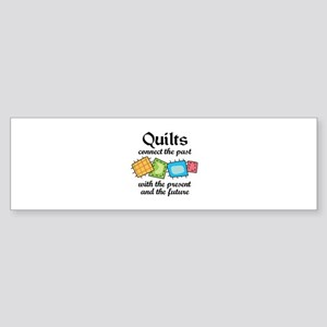 QUILTS CONNECT Bumper Sticker