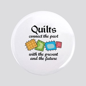 "QUILTS CONNECT 3.5"" Button"