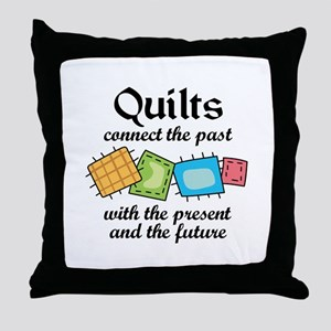 QUILTS CONNECT Throw Pillow