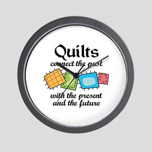 QUILTS CONNECT Wall Clock