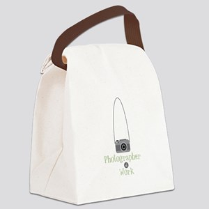 Photographer at work Canvas Lunch Bag
