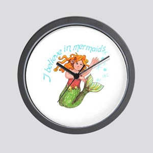 I BELIEVE IN MERMAIDS Wall Clock