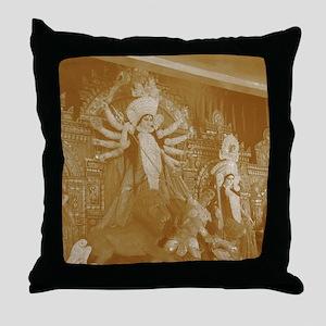 Durga Pooja in Kolkata Throw Pillow