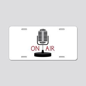 On Air Aluminum License Plate