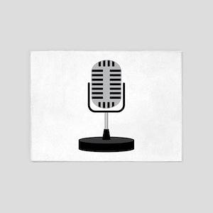 Old School Microphone 5'x7'Area Rug