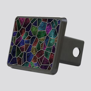 Mosaic LORA multicolor Rectangular Hitch Cover