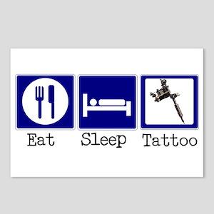 Eat, Sleep, Tattoo Postcards (Package of 8)