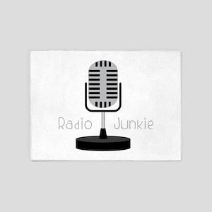 Radio Junkie 5'x7'Area Rug