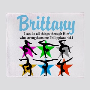 UPLIFTING GYMNAST Throw Blanket