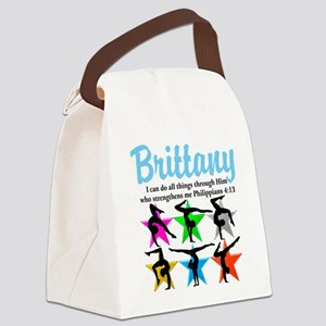 UPLIFTING GYMNAST Canvas Lunch Bag