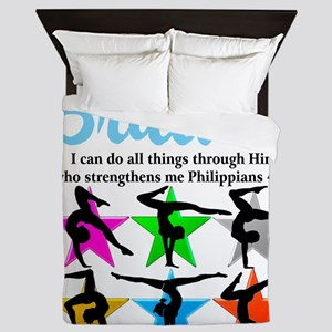 UPLIFTING GYMNAST Queen Duvet