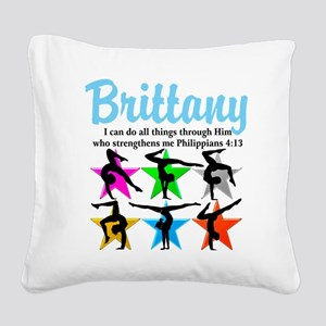 UPLIFTING GYMNAST Square Canvas Pillow