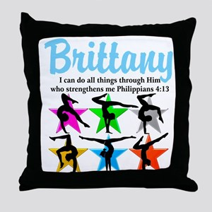 UPLIFTING GYMNAST Throw Pillow