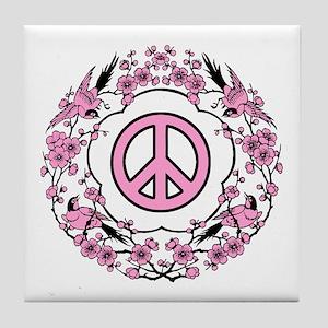 Chinese Peace Symbol Tile Coaster