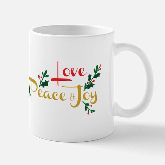 Love, Peace & Joy Mugs